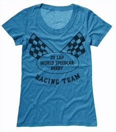 The official, unofficial racing team tee. Racing Team, Derby, T Shirts For Women, Mens Tops, Fashion, Moda, La Mode, Fasion, Fashion Models