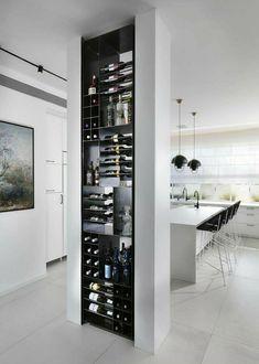 Wine Rack Design, Wine Cellar Design, Home Bar Designs, Home Design, Design Ideas, Design Styles, Design Art, Modern Kitchen Design, Interior Design Kitchen