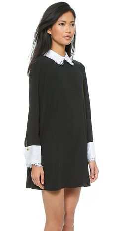 Rachel Zoe Luke Long Sleeve Shirt Collar Dress | SHOPBOP