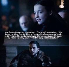"""King in the North. Game of Thrones; Season 6 Episode 10 """"The Winds of Winter"""""""