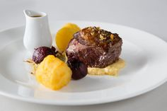 Dukkah spiced roasted Lanarkshire lamb rump, caramelised fennel, creamy herb hummus, roasted baby beets, buttery potato cake and roasted juices - by Heritage Portfolio