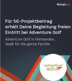 Adventure Golf Winnenden bietet auf über 3.200 qm ein völlig neues, abenteuerliches (Mini-) Golferlebnis für jung und alt. Unterstütze mit 5€ und nimm Deine Begleitung umsonst mit http://www.fairplaid.org/Gutscheine/Gutschein-Detail/vid/102 #fairplaid #mehrsportfueralle