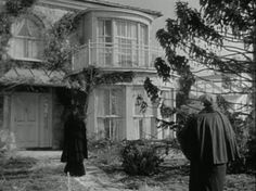 "I like the arched window, and the two bay windows with a balcony... nice design.  [Gull Cottage in the Movie ""The Ghost and Mrs. Muir""]"