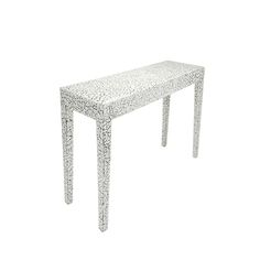 Milan Console Table in Cracked Eggshell