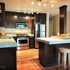 kitchen dark cabinets light countertops
