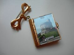 Vintage Tiny Book of Miniature Postcards BroochPin by RaRaRetro, £15.00