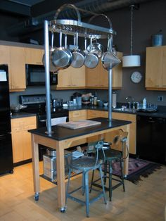 Kitchen Island Custom Designed And Fabricated Kitchen Island Made With  Vintage High School Lab Table,