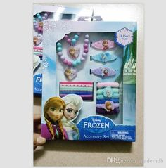 Infant Girl Hair Accessories Hot Sale Children'S Jewelry Sets Frozen Princess Necklace Bracelet Rubber Band Hair Accessories Hairpin Christmas Gifts Dhl Free Shippi Wedding Hair Accessories Flowers From Madeindh, $3.88  Dhgate.Com Girls Hair Accessories, Wedding Hair Accessories, Girl Hairstyles, Wedding Hairstyles, Frozen Kids, Frozen Princess, Rubber Bands, Hairpin, Hair Band