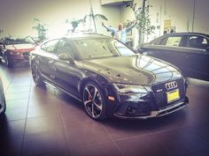 Daniel Mocioaca, Audi Brand Specialist, is ecstatic that this gorgeous Audi RS7 is here in our showroom. www.KeyesAudi.com