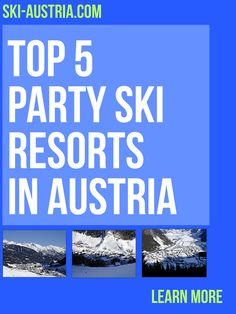 Part of what makes a great ski holiday is not just spending the time between dusk and dawn getting as many kilometres under your feet as possible. Here are 5 of the best party ski resorts in Austria. Austrian Ski Resorts, Ski Austria, Ski Holidays, Apres Ski, Animal Party, Best Part Of Me, Dusk, Night Life, Skiing