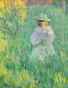 Girl in a Meadow, Henri Lebasque