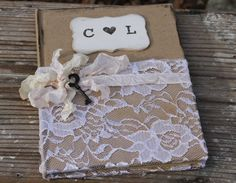livre d'or Rustic Wedding, Wedding Ideas, Custom Ribbon, Personalized Books, Antique Lighting, Ribbon Colors, Tiffany Blue, Wedding Guest Book, Decoration