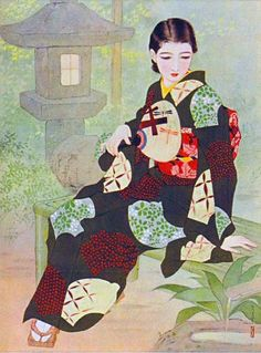 Iwata Sentarou 岩田専太郎 (1901-1974) Age of the new bride's mirror, for Shufu no Tomo 主婦の友, from Gekkan Bijutsu - 1939