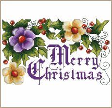 cross stitch patterns free printable | Free Merry Christmas! Cross-Stitch Pattern - ABC Free Cross-Stitch ...