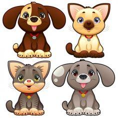 Colección de mascotas adorables