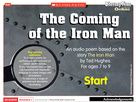 The Coming of the Iron Man – poem interactive resource English Lesson Plans, English Lessons, Iron Man Ted Hughes, The Iron Giant, Childrens Books, Middle School, Literacy, Poems, How To Plan