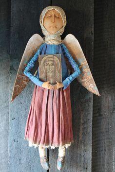 Купить На тебя уповаю... - комбинированный, текстильная кукла, ароматизированная…