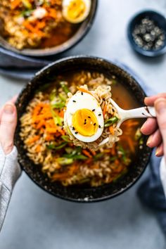 Easy Homemade Ramen Bowls #Ramen #soup #Asian #Japanesefood #homemade #easyrecipes #noodles #ramenbowl #comfortfood Healthy Ramen, Quick Healthy Meals, Easy Meals, Healthy Recipes, Healthy Food, Best Ramen Recipe, Ramen Recipes, Homemade Ramen, Ramen Bowl
