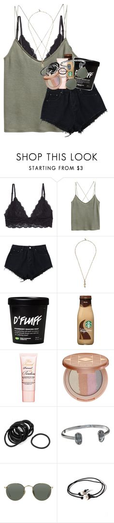 """""""after the storm there's always a rainbow"""" by ellaswiftie13 on Polyvore featuring H&M, Isabel Marant, Too Faced Cosmetics, tarte, Kendra Scott, Ray-Ban and Joie"""