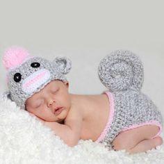 Infant Studio Fashion - Monkey Gray - Sabrina Hidden- - TopBuy.com.au