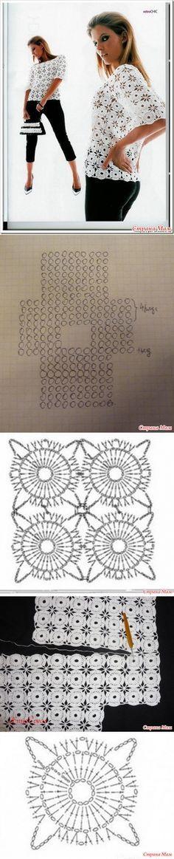 Кофточка круглыми мотивами безотрывным методом вязания. Онлайн. - Вяжем вместе он-лайн - Страна Мам