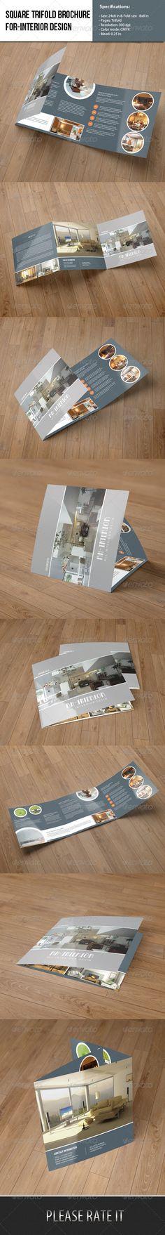 Square Trifold Brochure-Interior Design