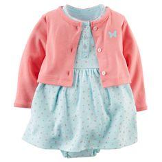 Vestido com casaquinho bebê menina Carter's