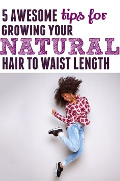 Want to know the secret to growing your natural hair to waist length? Well find out here! 5 tips to help you out. #naturalhair #haircare #curlyhair #growlonghair Grow Long Hair, Grow Hair, Inversion Method, Teeny Weeny Afro, Curly Hair Styles, Natural Hair Styles, Waist Length Hair, Low Maintenance Hair, Long Natural Hair