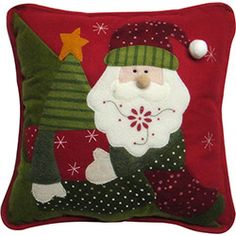 Almofada Papai Noel  Christmas Traditions Colorida 35cm