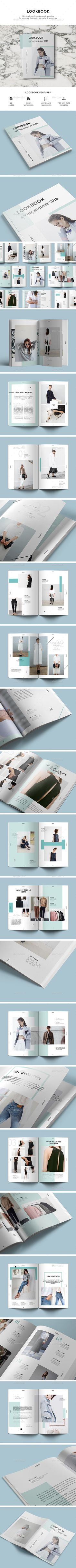 28 Unique Pages LookBook Template InDesign INDD. Download here: http://graphicriver.net/item/lookbook/16647729?ref=ksioks