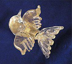 Murano Glass Gold Bird