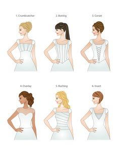 Or maybe you want a specific type of bodice? | 17 Wedding Dress Diagrams That Will Simplify Your Shopping