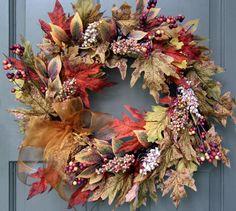 Maple Leaf & Berry Wreath - Creative Decorations by Ridgewood Designs