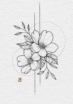 Fleurs de mai - David et Leanna - 736 x 1042 Sinon devise ​​ Cute Tattoos, Beautiful Tattoos, Small Tattoos, Tattoos Skull, Dragon Tattoos, Tatoos, Flower Tattoo Designs, Flower Tattoos, Tattoo Sketches