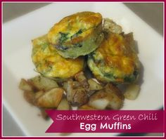 Southwestern Green Chili Egg Muffin Recipe from Inspiration for Moms