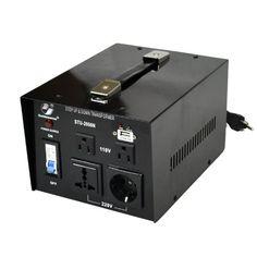 Goldsource STU-N Series 2000w Heavy-duty AC 110/220V Step Up / Down Voltage Transformer / Converter with US Standard, Universal, German/French Schuko AC Outlets & DC 5V USB Port - 2,000 Watt Goldsource http://www.amazon.com/dp/B00H9Z3GNM/ref=cm_sw_r_pi_dp_vB7Dub0P4204W