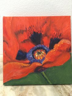 Theres nothing like a beautiful red poppy in a Colorado field. I painted this piece after memories of a hike in the Rockies.