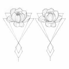Noir et blanc dessin animaux geometrique idee dessin pivoine #inkdrawings