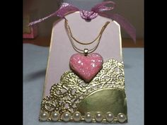 DIY~Sugar Cookie Heart Pendant Necklace W/ Matching Tag! EASY! - YouTube