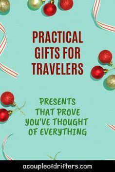 Treat the travel lover in your life to a gift that lets them know you care. We've got travel gifts for him and her. Our unique travel gift guide has suggestions for every budget and plenty of practical presents for every kind of traveler. #travel gifts #travelgiftideas #giftideas #giftguide #travelpresents #gifts Travel Items, Travel Gadgets, Travel Products, Travel Presents, Travel Gifts, Packing List For Travel, Packing Lists, Travel Reviews, Practical Gifts
