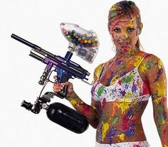 Messy #paintball #hotgirls #girlswithguns #paintballing