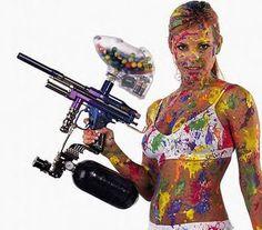 Messy #paintball #hotgirls #girlswithguns #paintballing