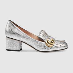 4bf0459dfa0 Gucci Metallic mid-heel pump - OMG perfect holiday party shoe! Shoes Heels