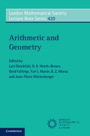 Arithmetic and Geometry / Edited by Luis Dieulefait...[et al.]. 2015. Máis información: http://www.cambridge.org/us/academic/subjects/mathematics/number-theory/arithmetic-and-geometry?format=PB