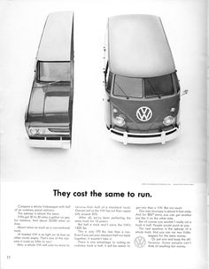 Volkswagen Ad - They Cost The Same
