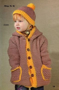 Crochet golden hat for children Crochet Baby Clothes Boy, Crochet Baby Sweaters, Crochet Baby Bonnet, Crochet Coat, Crochet Jacket, Crochet For Boys, Crochet Blouse, Easy Crochet, Newborn Crochet Patterns