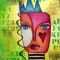 Abstract face art journal page | Flickr - Photo Sharing!