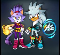 Sonic Boom Blaze and Silver :) ... that'd be awesome if they looked like this !