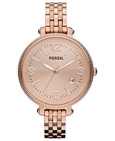 Fossil Watch, Women's Heather Rose Gold Tone Stainless Steel Bracelet 42mm ES3130 - All Watches - Jewelry & Watches - Macy's