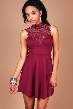 Lace Flirt Dress | Trendy Dresses at Pink Ice
